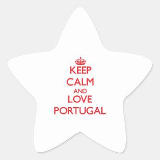 Keep Calm and Love Portugal Star Sticker