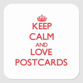 Keep calm and love Postcards Square Sticker