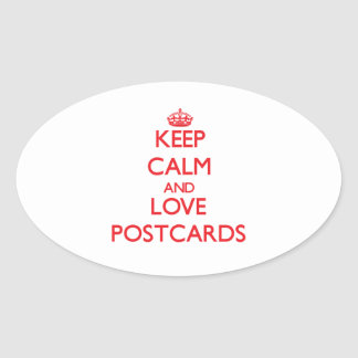 Keep calm and love Postcards Stickers