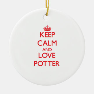 Keep calm and love Potter Ceramic Ornament
