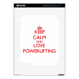 Keep calm and love Powerlifting Skins For iPad 3