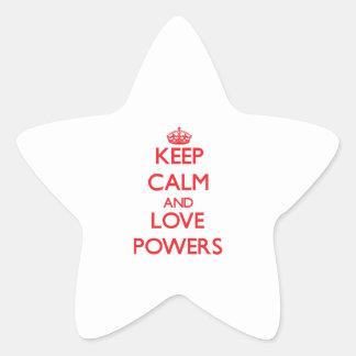 Keep calm and love Powers Star Sticker