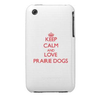 Keep calm and love Prairie Dogs Case-Mate iPhone 3 Case
