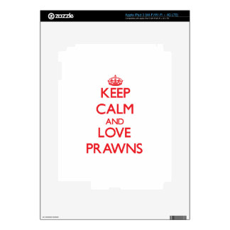 Keep calm and love Prawns Skin For iPad 3