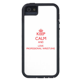 Keep calm and love Professional Wrestling iPhone 5 Case