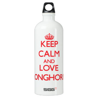 Keep calm and love Pronghorns SIGG Traveler 1.0L Water Bottle