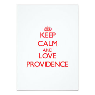 Keep Calm and Love Providence 5x7 Paper Invitation Card