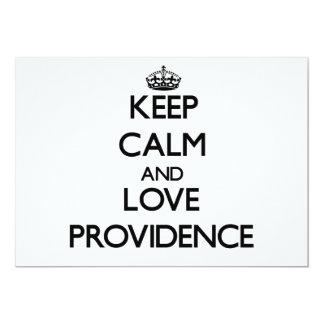 Keep Calm and love Providence Custom Invites