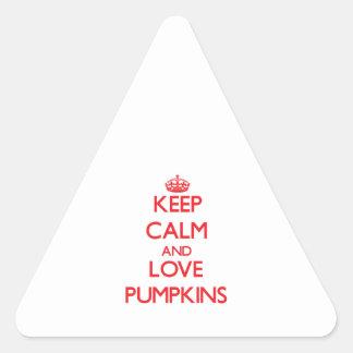 Keep calm and love Pumpkins Sticker