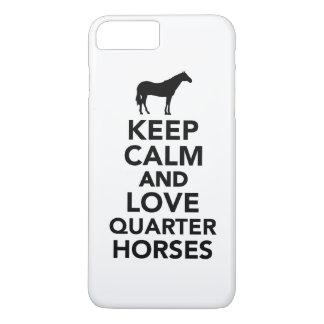 Keep calm and love Quarter horses iPhone 8 Plus/7 Plus Case