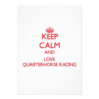 Keep calm and love Quarterhorse Racing Cards