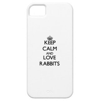 Keep calm and Love Rabbits iPhone 5 Case