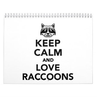 Keep calm and love raccoons calendar