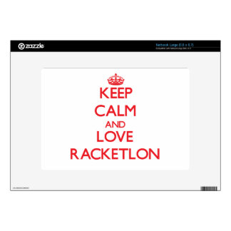 Keep calm and love Racketlon Decal For Large Netbook