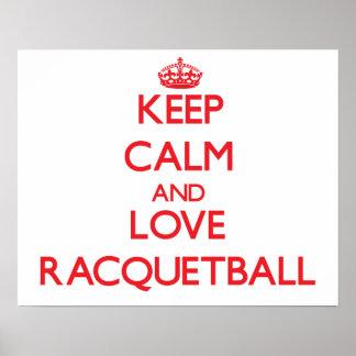 Keep calm and love Racquetball Print