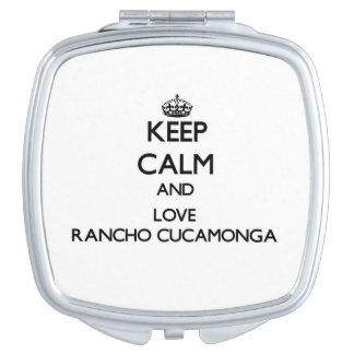 Keep Calm and love Rancho Cucamonga Compact Mirror