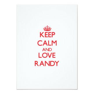 Keep Calm and Love Randy Custom Invitations