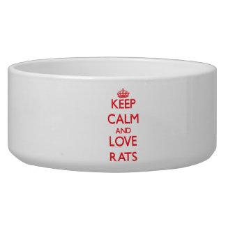 Keep calm and love Rats Dog Bowls