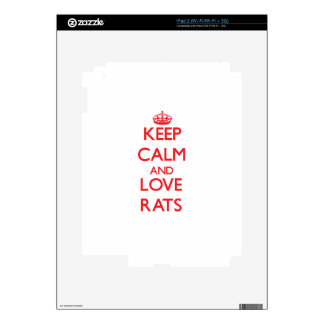 Keep calm and love Rats Skins For iPad 2