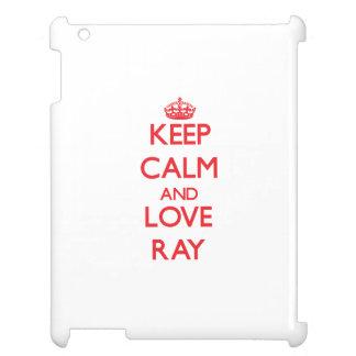 Keep calm and love Ray iPad Cover