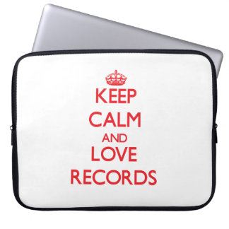 Keep calm and love Records Computer Sleeve