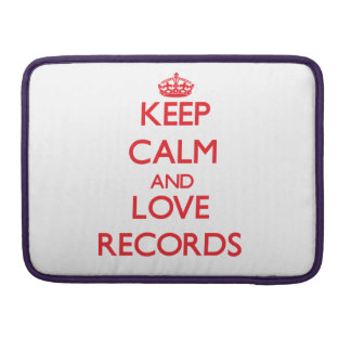 Keep calm and love Records Sleeve For MacBook Pro