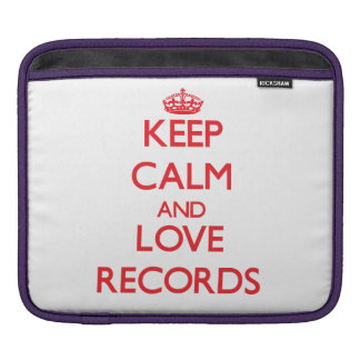 Keep calm and love Records Sleeves For iPads