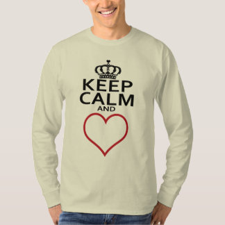 Keep Calm and LOVE, Red Heart Shirt
