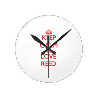 Keep calm and love Reed Round Clocks