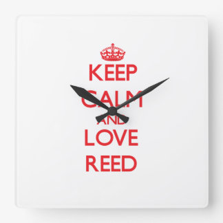 Keep calm and love Reed Wall Clocks