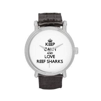 Keep calm and Love Reef Sharks Watch