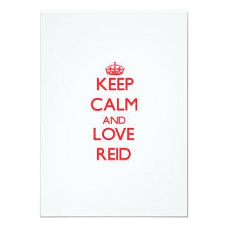 Keep calm and love Reid 5x7 Paper Invitation Card