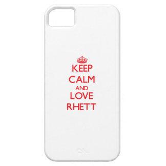 Keep Calm and Love Rhett iPhone 5 Covers