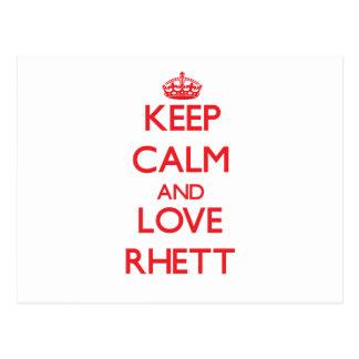Keep Calm and Love Rhett Postcard