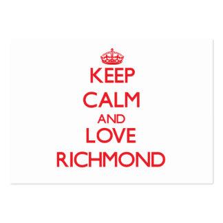 Keep Calm and Love Richmond Business Cards