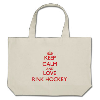 Keep calm and love Rink Hockey Tote Bags