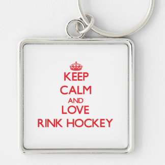 Keep calm and love Rink Hockey Keychain