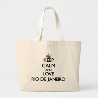 Keep Calm and love Rio De Janeiro Jumbo Tote Bag