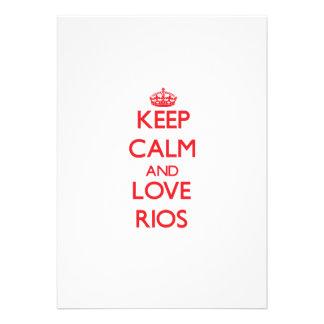 Keep calm and love Rios Announcement