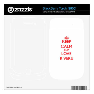 Keep calm and love Rivers Decals For BlackBerry