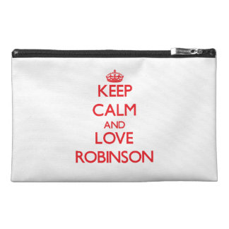 Keep calm and love Robinson Travel Accessories Bags