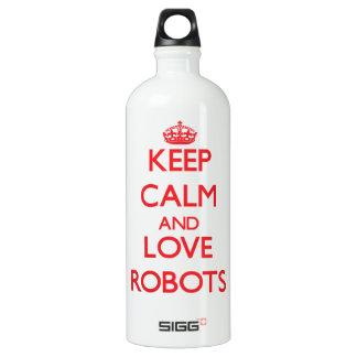 Keep calm and love Robots SIGG Traveler 1.0L Water Bottle