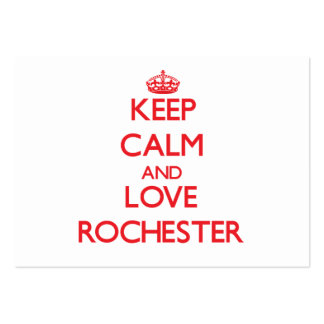 Keep Calm and Love Rochester Business Cards