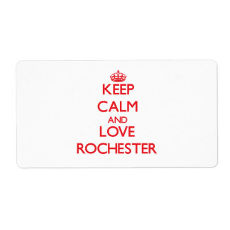 Keep Calm and Love Rochester Custom Shipping Label