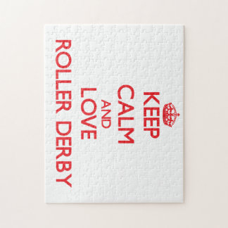 Keep calm and love Roller Derby Jigsaw Puzzle