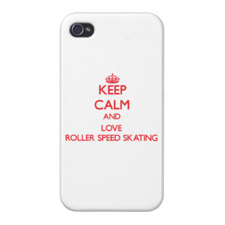 Keep calm and love Roller Speed Skating Cover For iPhone 4