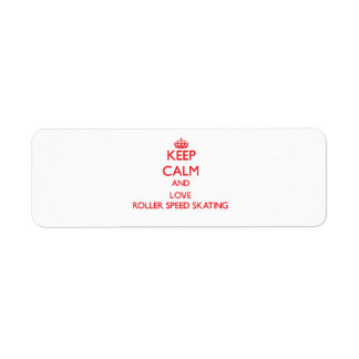 Keep calm and love Roller Speed Skating Labels