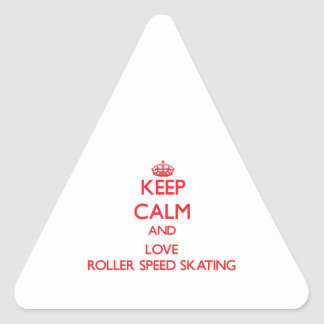 Keep calm and love Roller Speed Skating Sticker