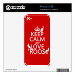 Keep Calm and Love 'Roos (kangaroo)  - all colors Skin For The iPhone 4