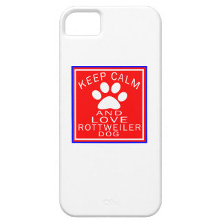 Keep Calm And Love Rottweiler iPhone 5 Case